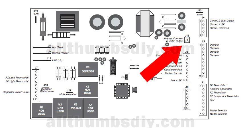 ge refrigerator motherboard wiring diagram