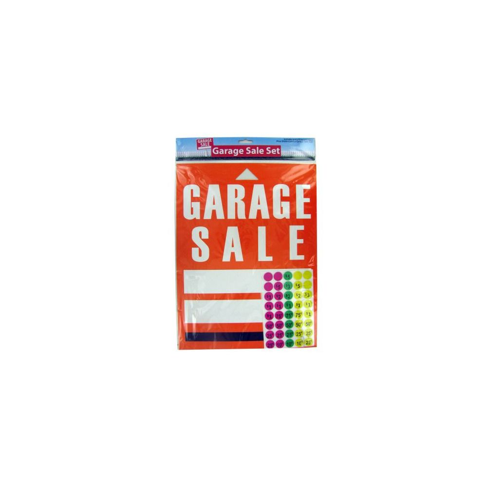 Garage Sale Book Prices 72 Units Of Wholesale Garage Sale Sign And Sticker Set Stickers