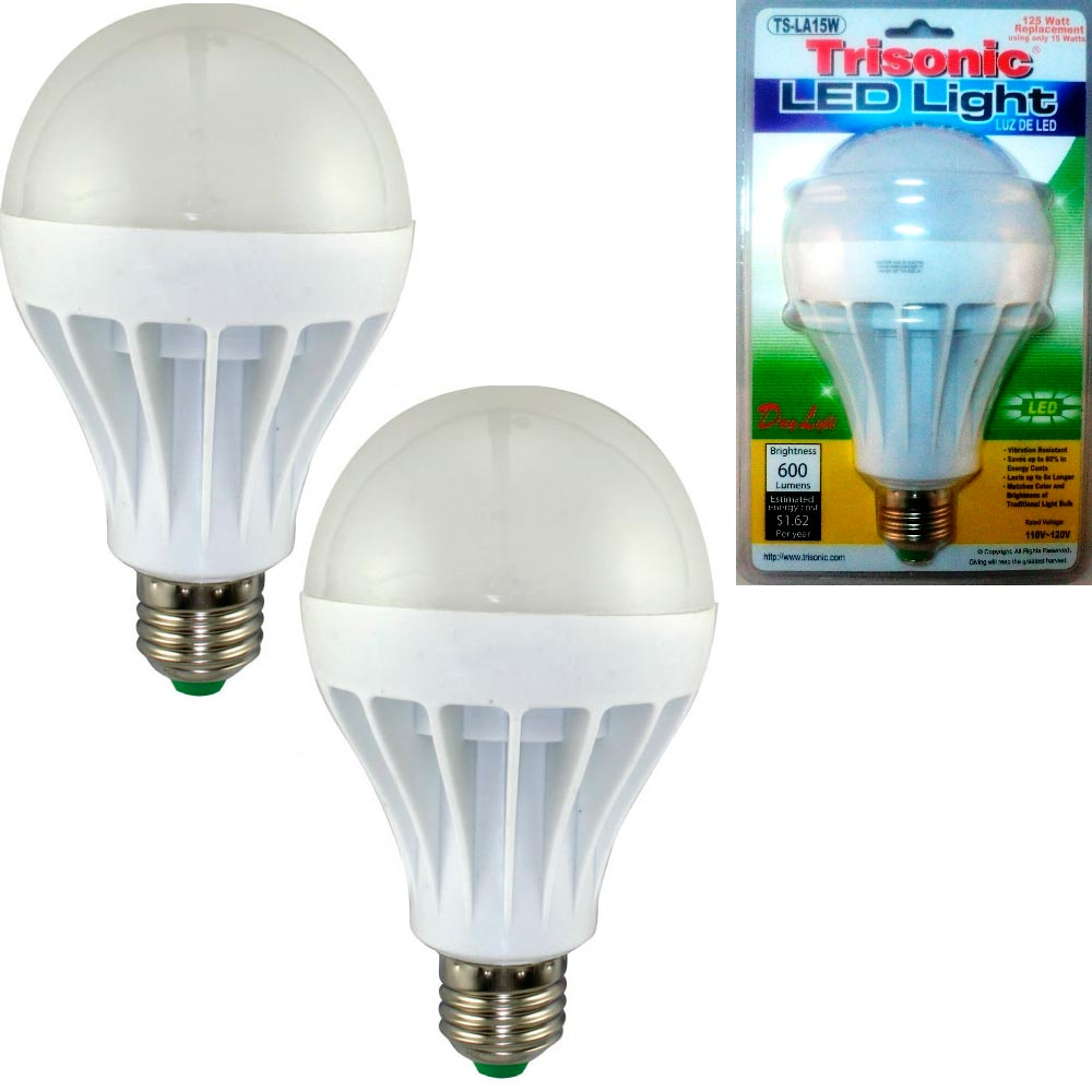 15 Watt Led Details About 2 Pc Daylight 15 Watt Energy Led Light Bulb 125 W Output Replacement 600 Lumens