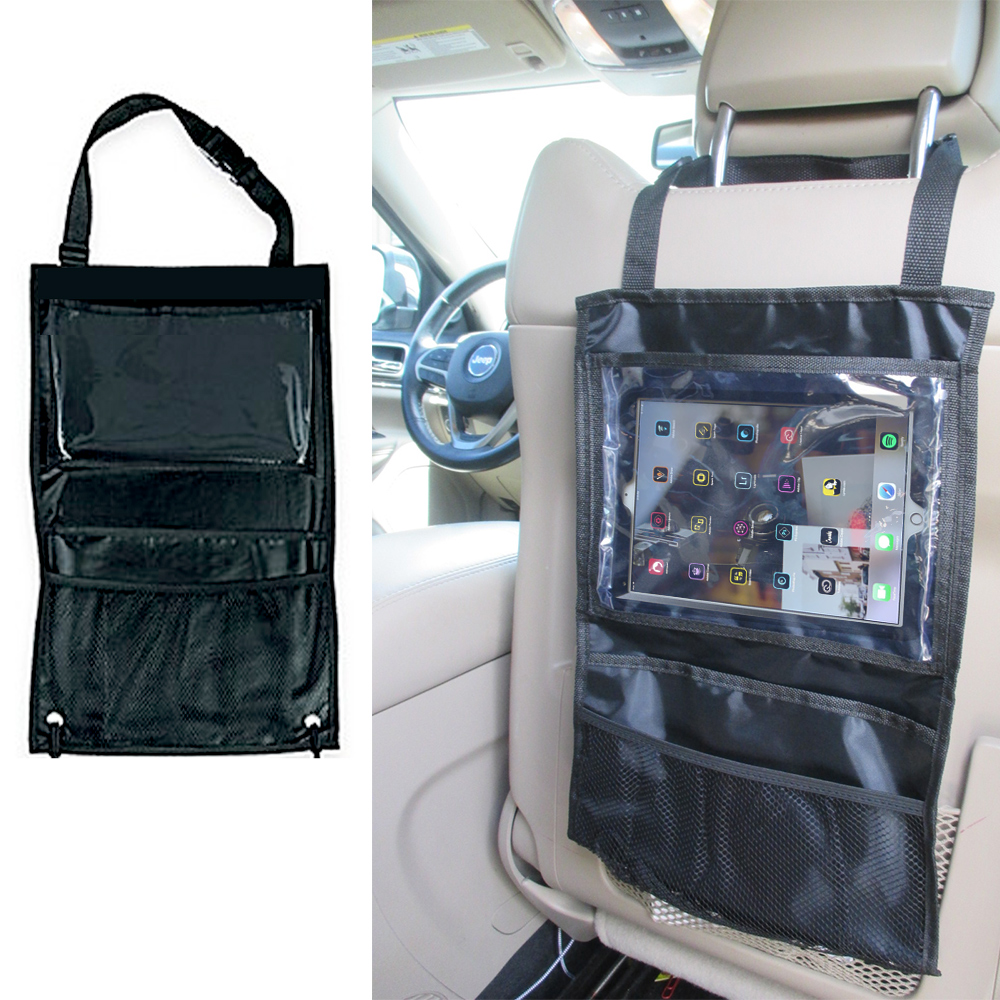 Auto Organizer Tablet Details About Black Auto Car Seat Back Tidy Organizer Holder Pocket Storage Bag Hanger Travel