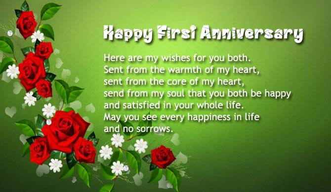 150+ First Anniversary Wishes, Quotes, Messages, Saying Images