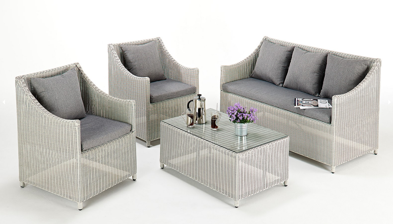 Rattan Garden Sofa Set Ebay Contemporary Rattan Sofa Set Wicker Furniture