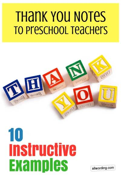 Thank You Notes to Daycare Teachers 10 Instructive Examples