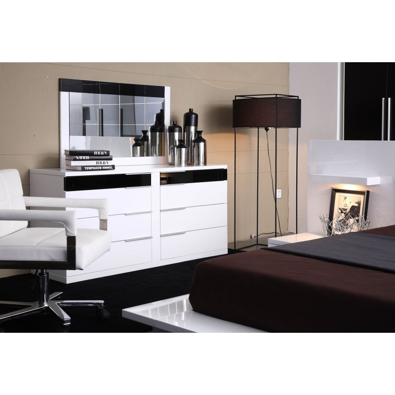 Find 5 Cheap Modern White Dressers and Modern Black Dressers for