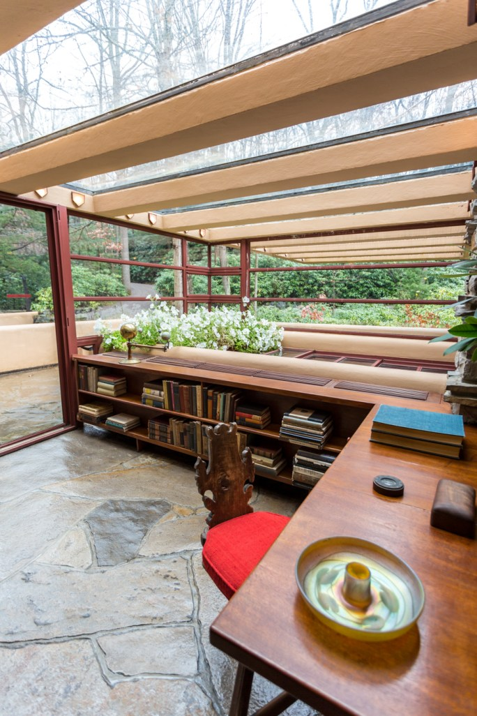 Skylights over desk in Fallingwater