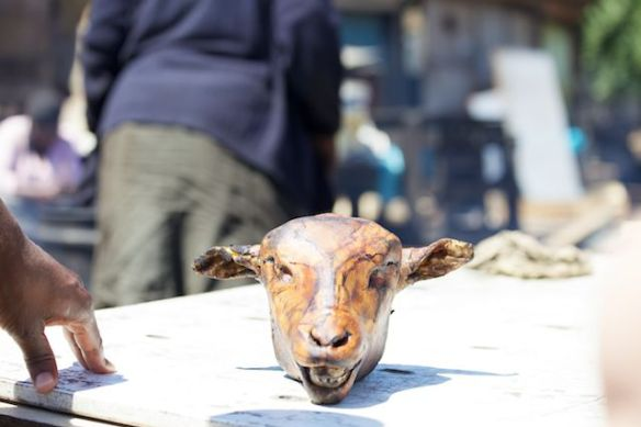 Cooked sheep's head, Langa Township, South Africa  (c) Allyson Scott