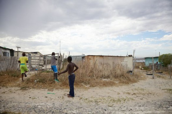 Children playing in Khayelitsha Township, Western Cape, South Africa  (c) Allyson Scott