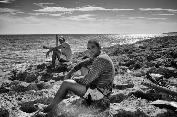 Fishermen at campismo, Jibacoa
