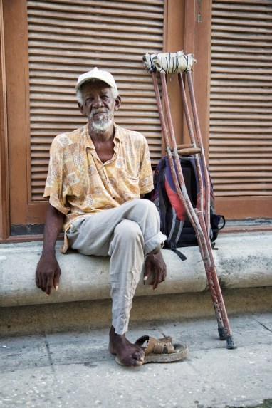 Elderly Cuban amputee, Havana