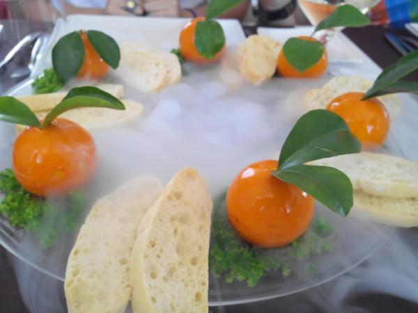 los brezos naranjas foie relleno