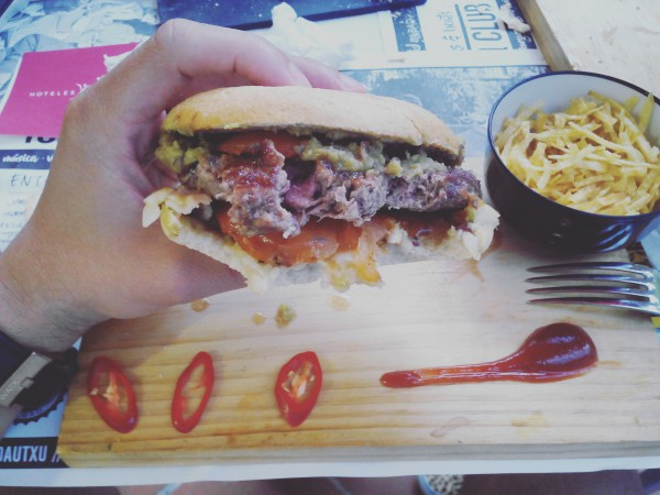 fosbury club bbq hamburguesa