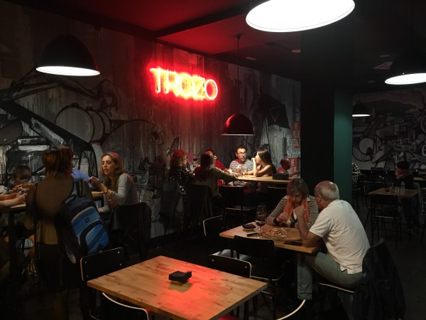 pizza, trozo, plaza del gas, kokken
