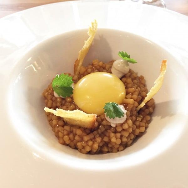 eneko atxa, restaurante eneko, azurmendi, larrabetzu, huevo trigo