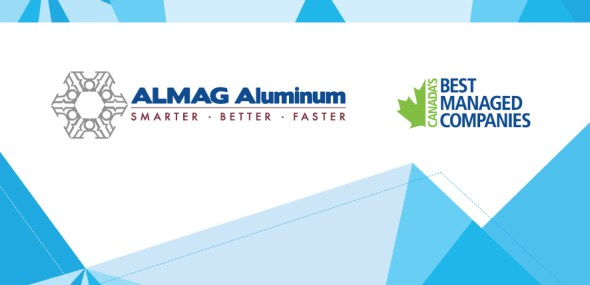 Almag Aluminum is requalified as one of 2017 Canada's Best Managed Companies! (3 Years)