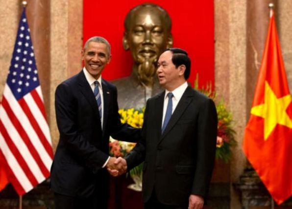 President Barack Obama and Vietnamese General Secretary Nguyen Phu Trong