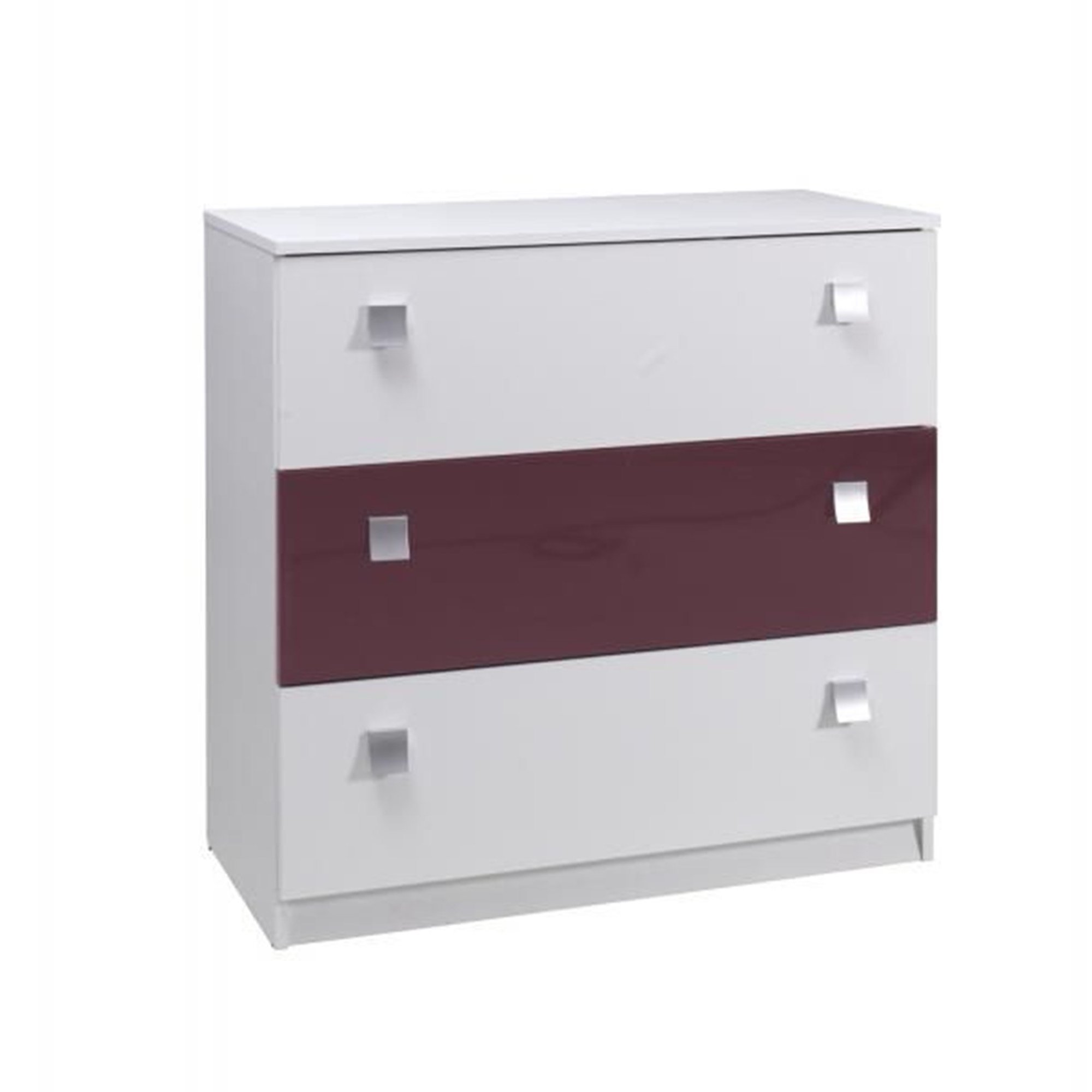 White Gloss Drawers Purple Andwhite Gloss Chest Of Drawers Almond Furniture