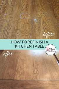 How to Stain a Wood Veneer Kitchen Table Top - A ...