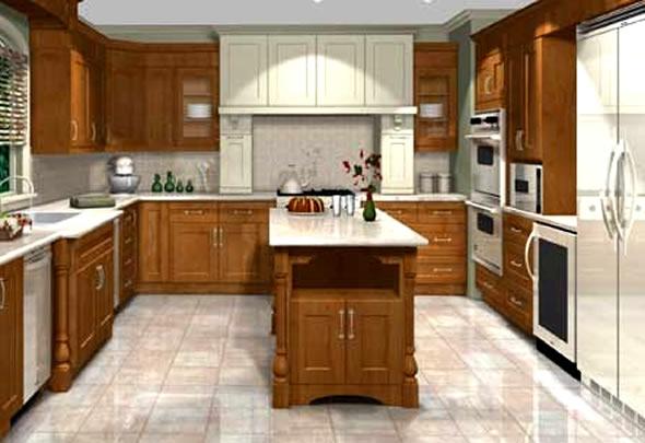 تصاميم مطابخ ثلاثي الأبعاد أنيقة fresh modern interior design kitchen