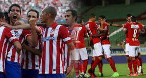 أتلتيكو مدريد يشكر الجماهير المصرية بعد الفوز على الأهلى فى مباراة السلام