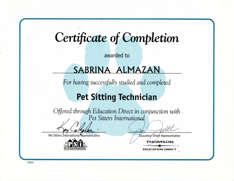 Dog Trainer Certification Gallery - creative certificate design