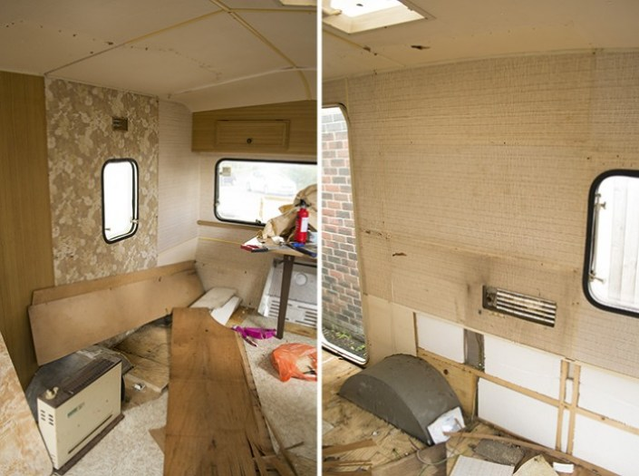 Vintage caravan renovation project