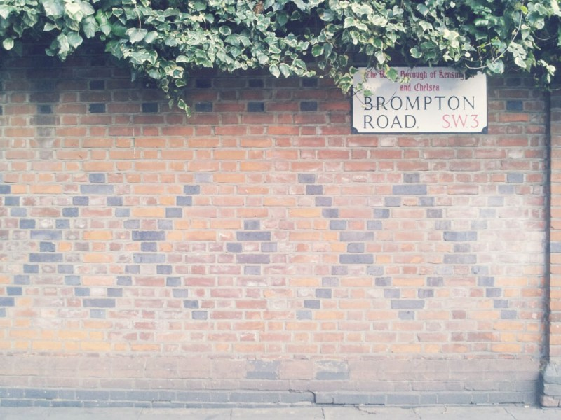 Brompton Road Sign London