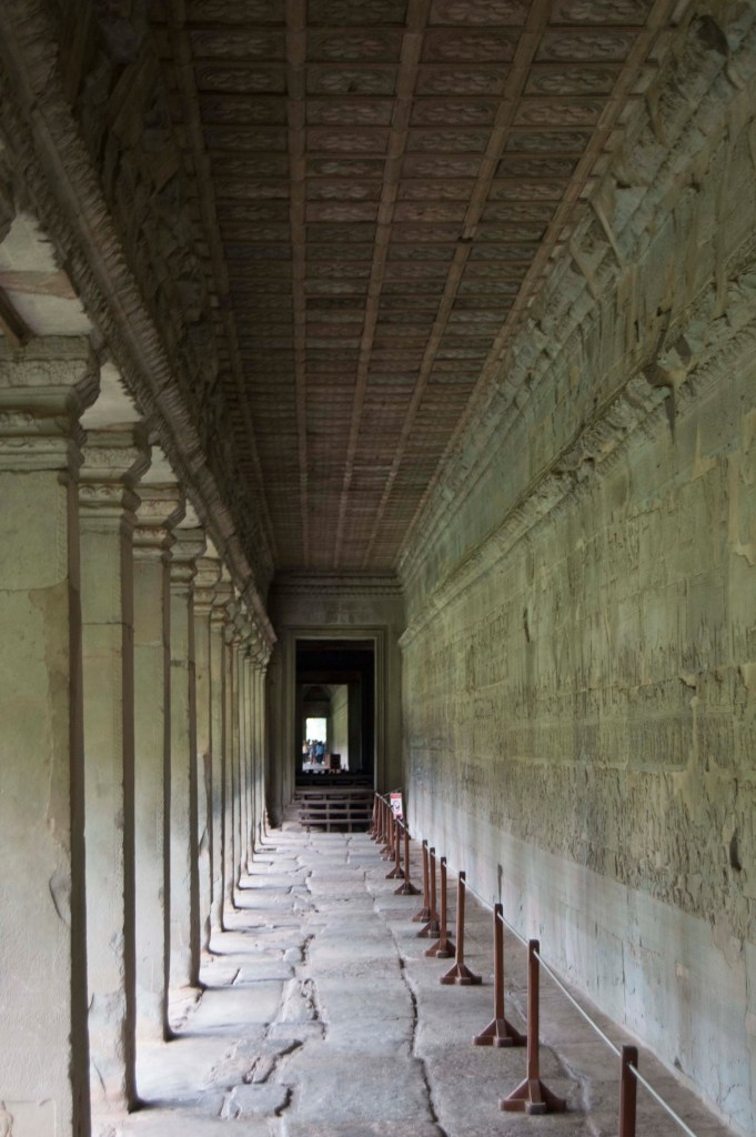 The outer hallways are all intricately carved with stories from Hindu myths