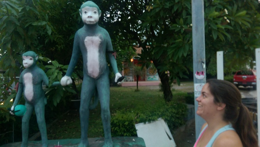 There apparently wasn't much to photograph on Koh Samui, as this creepy monkey statue is the only picture I have from the island