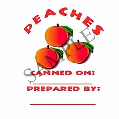 Peaches Round Canning Label #L104