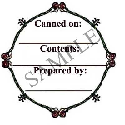 Filigree Border Round Canning Label #L109