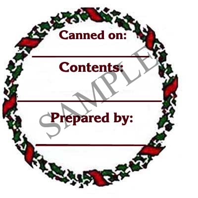 Holly and Berry Round Canning Label #L120