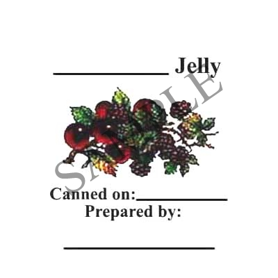 Berry Jelly Round Canning Label #L133