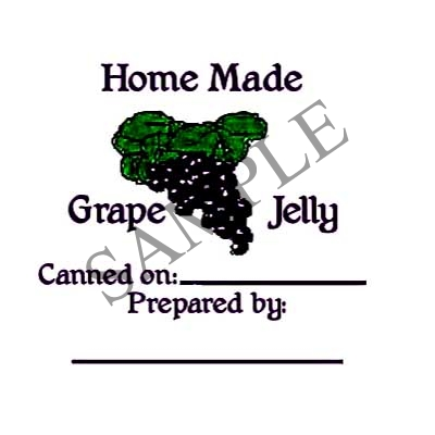 Grape Jelly Round Canning Label #L136