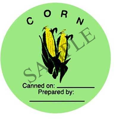 Corn Round Canning Label #L150