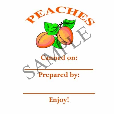 Peaches Canning Label #L215