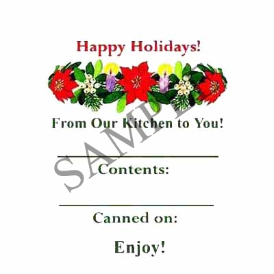 Happy Holiday Round Canning Label #L216