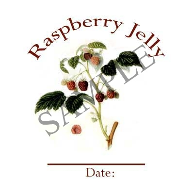 Raspberry Jelly Canning Label #L259