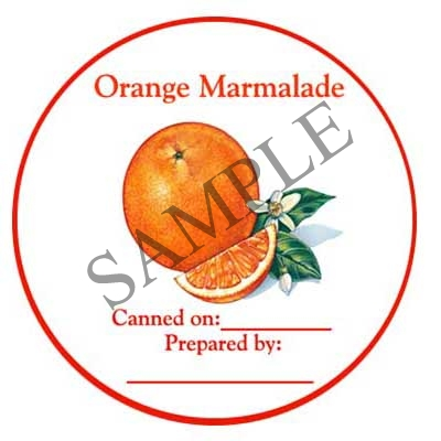Orange Marmalade Round Canning Label #L296
