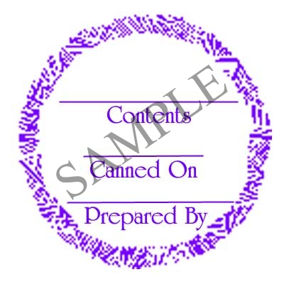 Generic Label Purple Round Canning Label #L325