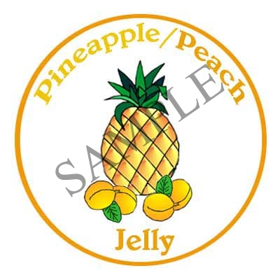 Pineapple Peach Jelly Canning Label #L334