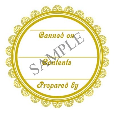 Generic Lace Round Canning Label #L339