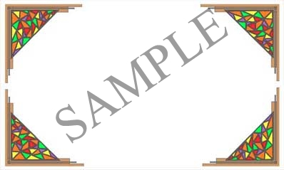 Stained Glass Border Blank Rectangle Canning Label #RB101