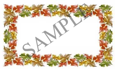 Leaf Border Blank Rectangle Canning Label #RB106