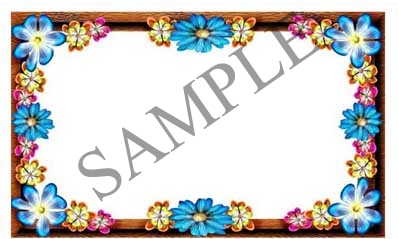 Flower Border Blank Rectangle Canning Label #RB111