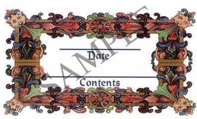 Ornate Leaf Border Rectangle Canning Label #RCT104