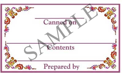 Fleur De Lys Border Rectangle Canning Label #RCT112