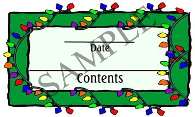 Christmas Lights Rectangle Canning Label #RCT119