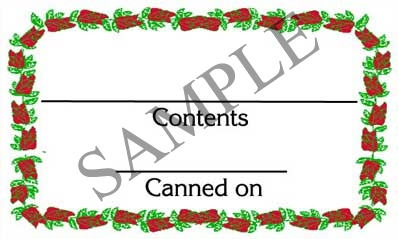 Rose Border Rectangle Canning Label #RCT120