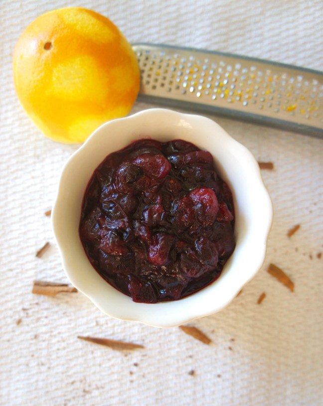 Honey Orange Cranberry Sauce