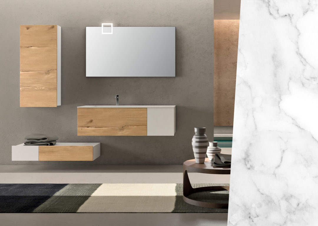 Top Bagno In Kerlite The Bassano Composition 1 To Furnish The Bathroom Alpemadre